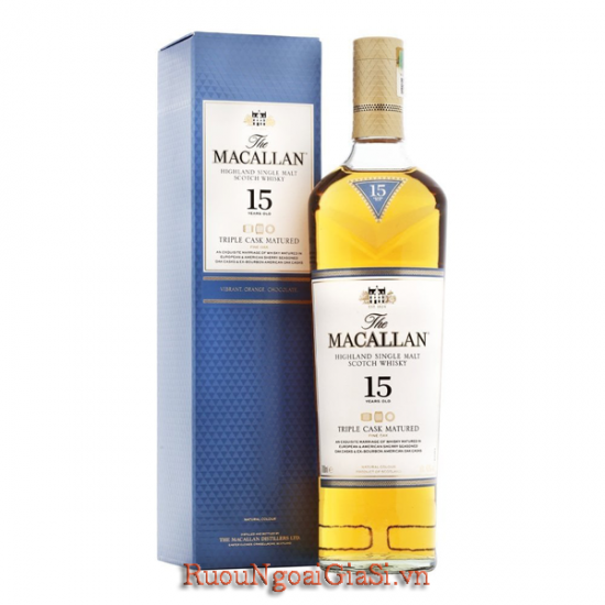 Macallan 15 năm Triple Cask
